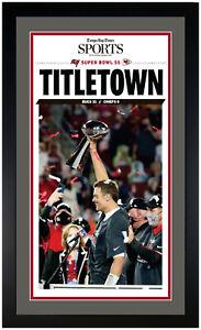 Super Bowl 55 Tampa Bay Bucaneers Framed Newspaper Print Framed 2/8/21 New!