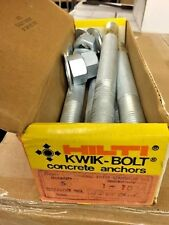 "Box of (5) Hilti 5500 W-2/65 Thread Kwik-Bolt Concrete Anchors 1"" x 10"""