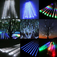 30/50cm 144/240 LED Meteor Shower Rain Snowfall 8 Tubes String Light Tree Xmas S