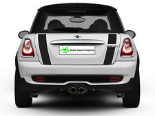 Mini Cooper R56 2007-2013 Boot Stripes - Black with White Border and Laminated