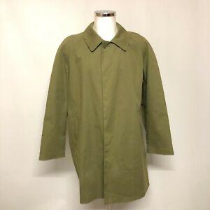 New Francis Campelli Trench Coat Mens Size UK XL Khaki Green 100% Cotton 021073