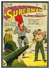 Superman #122 VG- DC Comics 1958 The Super Sergeant! Bazooka Cover