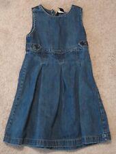 Baby Gap Girls Jean Jumper Dress Size 4 Blue Denim