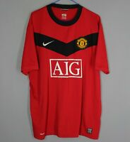MANCHESTER UNITED 2009/2010 HOME FOOTBALL SHIRT SOCCER JERSEY MUFC NIKE