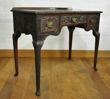 Antique heavily carved writing desk - dressing table - console