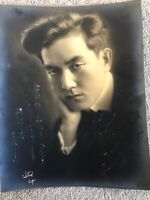 🔥 RARE Sessue Hayakawa Signed Autograph Photo, Silent Film Hollywood 1916