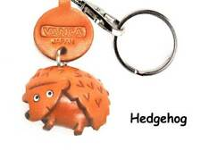 Hedgehog Handmade 3D Leather Animals Keychain *VANCA*  Made in Japan #56227