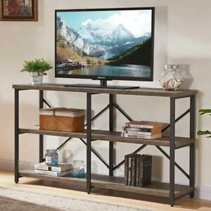 Rustic Console Table for Entryway, Industrial Sofa/Entry Table 55in Gray Oak
