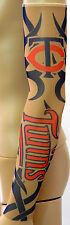 New! Minnesota Twins Red Blue Tattoo Arm Sleeve Sun Block Nylon Baseball Digital