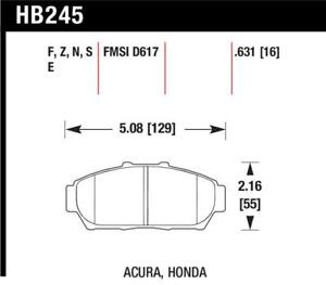Hawk for 94-01 Acura Integra (excl Type R) DTC-60 Race Front Brake Pads - hawkHB