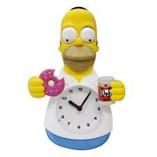 NJ Croce Homer Simpson Animated Wall Clock , New, Free Shipping