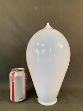 "12"" Antique Opalescent Bullet Shade - Art Glass Vaseline Torpedo Light Shade"