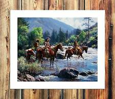 Martin Grelle indians Paintings HD Print on Canvas Home Decor Wall Art Pictures
