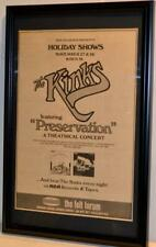 THE KINKS 1974 MADISON SQUARE GARDEN FRAMED ORIGINAL POSTER / AD