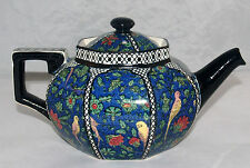 ART DECO ROYAL DOULTON BIRDS BLUE CHINZ PERSIAN PARROTS D4031 PORCELAIN TEAPOT