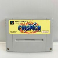 Nintendo SUPER Famicom THE FIREMEN action HUMAN tested and working SFC SNES
