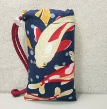 """New 3"""" X 5"""" Padded Pipe Bag /Pouch / Case /Glass Bowl Bag / Chillum / Koi Fish"""