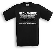MECHANIKER - T-Shirt - Geschenk Beruf Definition KFZ Auto Jubliäum Handwerker
