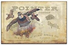 Vintage Pointer Shotgun Shell Box Art Print 11x17 Dog Quail Hunting Wall Decor