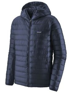 Patagonia Hooded Puff Jacket Navy Blue Large EXC COND RRP $399