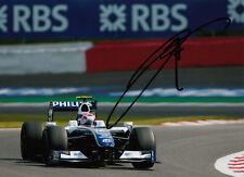 Kazuki Nakajima mano firmado AT&T Williams F1 Foto 7x5 3.