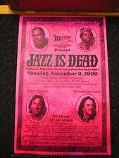 Orig JAZZ IS DEAD Tribute Band GREATFUL DEAD Poster 1999 Cal-Neva Resort VINTAGE