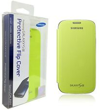 Original Samsung Galaxy S3 Flip Cover Folio Lime Green Case Slim EFC-1G6FMEGSTA
