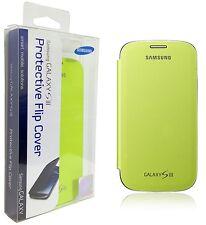 Original Samsung Galaxy S3 Flip Cover Folio Lime Green Case Slim EFC-1G6FMEGSTA