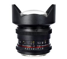 Samyang 14mm T3.1 Ed as If UMC VDSLR Iin Mark 2 Lens for Canon 1 YR AU WTY