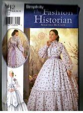 Simplicity 5442 Victorian Civil War Era Dress Gown Pattern Uncut Size 6 8 10 12