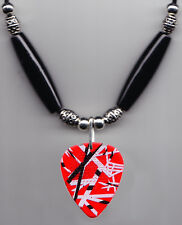 Eddie Van Halen Signature Red Frankenstrat Guitar Pick Necklace 2015 Tour