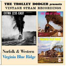 Norfolk & Western, Virginia Blue Ridge RR, Vintage 1950s Steam Train Audio on CD