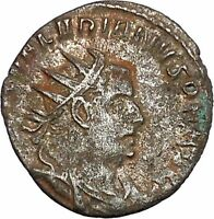 VALERIAN I holding hand of kneeling Orbis Silver  Ancient  Roman Coin i46462