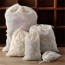 Large Reusable Cotton Drawstring Bags Muslin Tea Filters