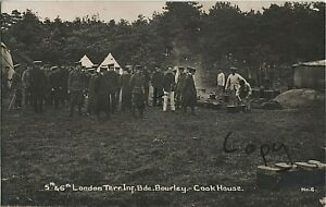 Soldier Group 5th & 6th London Infantry Brigade Cook House Bourley Aldershot