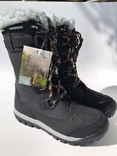 Bearpaw Women's Desdemona Waterproof Winter Boot Black (Size 10)