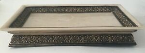 Hamilton Marble Made In India  Ornate Rectangular Composition Tray  C1 A IS