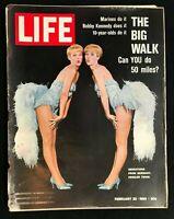 LIFE MAGAZINE - Feb 22 1963 - KESSLER TWINS / Abdul Karim Qassim / Numismatics
