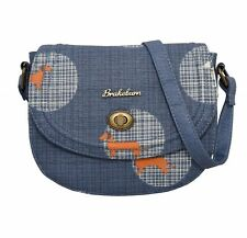 Brakeburn Donna Blu Salsiccia Cane Bassotto Design Borsa da sella piccola borsa a mano