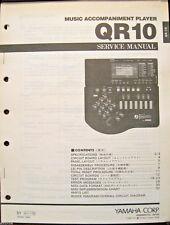 Yamaha QR10 Music Accompaniment Unit Original Service Manual, Schematics Booklet