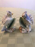 Enesco Imports Vintage Blue Jay Salt And Pepper Shakers Japan Bird Ceramic