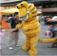 Adult Unisex Garfield Mascot Costume Game Fancy Dress Cosplay Outfits Party  A+