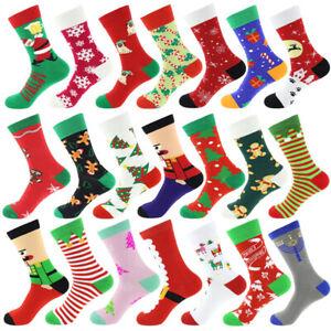 Mens Christmas Socks Novelty Stocking Ladies Kids Xmas Bed Slipper Socks Unisex