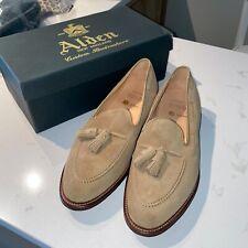 Alden Tan Aberdeen Last Suede Tassel Loafers Size 10 New in Box