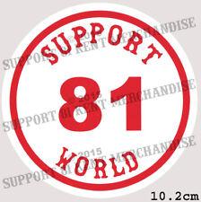 SUPPORT 81 KENT HELLS ANGELS ENGLAND Round World Sticker BIG RED MACHINE WORLD