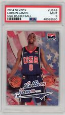 LEBRON JAMES 2004 SKYBOX USA BASKETBALL ROOKIE PSA 9 (QTY AVAIL)