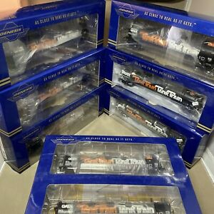 Athearn Genesis HO General American Tank Train 1980s Bilboard Herald GATX LOT x8