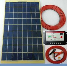 10w Solar PV  Panel + 7m cable /w fuse clip + 10A Charger Controller 12v Battery