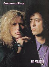 Jimmy Page (Led Zeppelin) David Coverdale (Whitesnake) 8 x 11 pinup 1993 photo