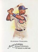 2008 Topps Allen & Ginter Baseball #160 Alfonso Soriano Chicago Cubs